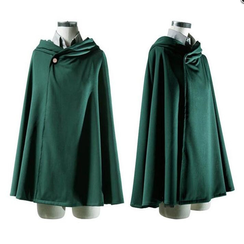 Ainiel Attack on Titan Coplay  Costume Green and Black Mantles for Women and Men Cosplay Cloak Halloween Cosplay  Robes