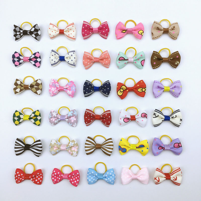 20 pieces lot Cute Ribbon Dogs Cats Hair Accessories Handmade High Quality font b Pet