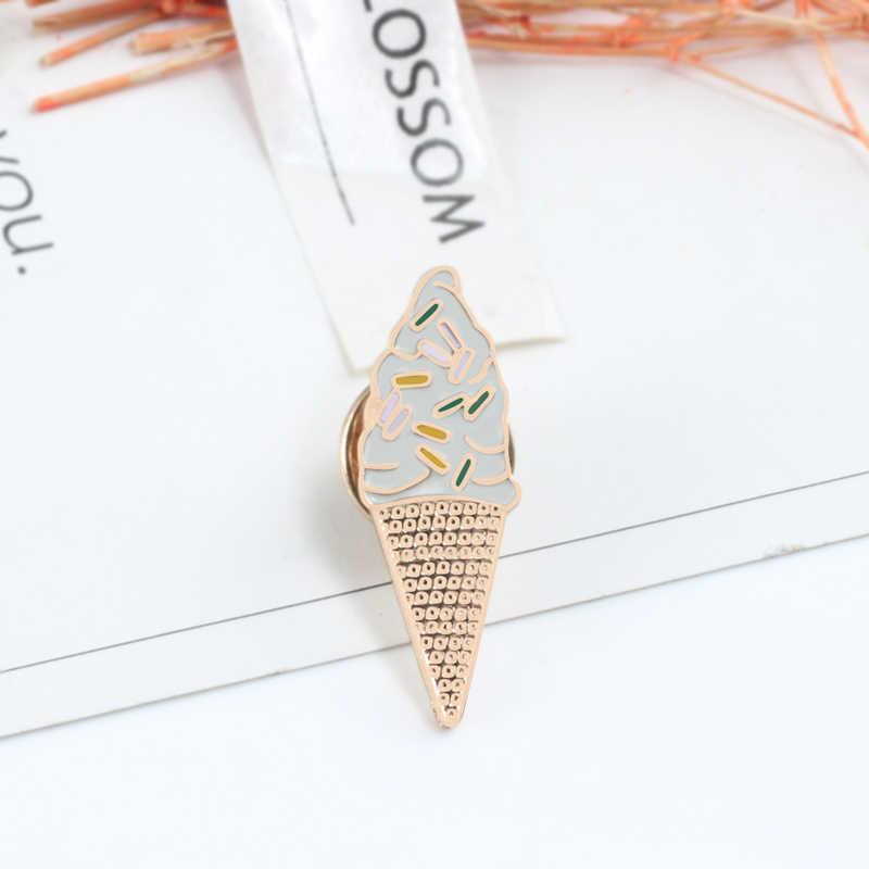 Lucu Pin Koleksi Nanas Pisang Enamel Pin Ice Cream Hamburger Jaket Kerah Fashion Bros untuk Wanita Anak Hadiah Perhiasan