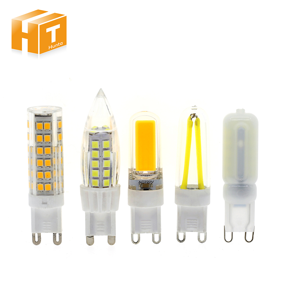 6pcs/Lot G9 LED Bulb Lamp Lights AC220V 3W /4W /5W G9 Corn Bulb Warm White/ White For Chandelier Lighting