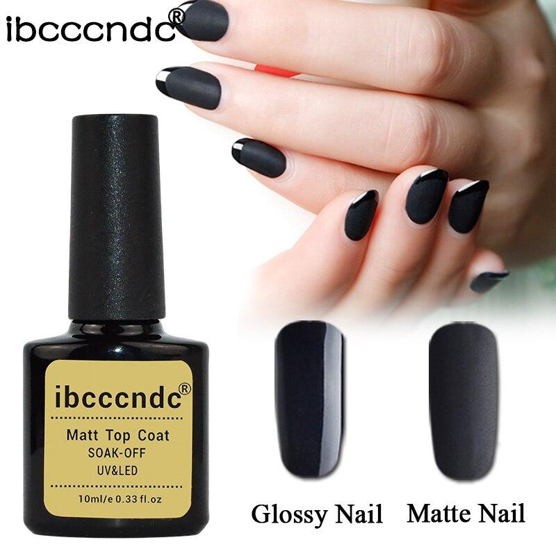 New 10ml IBCCCNDC Matte Top Coat Nail Gel Polish Soak Off UV Top ...