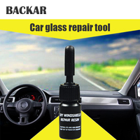 BACKAR Car styling Glasses Windshield Repair Tool Kits Stickers For Toyota Coralla CHR Fiat 500 Punto Renault megane duster 2 3