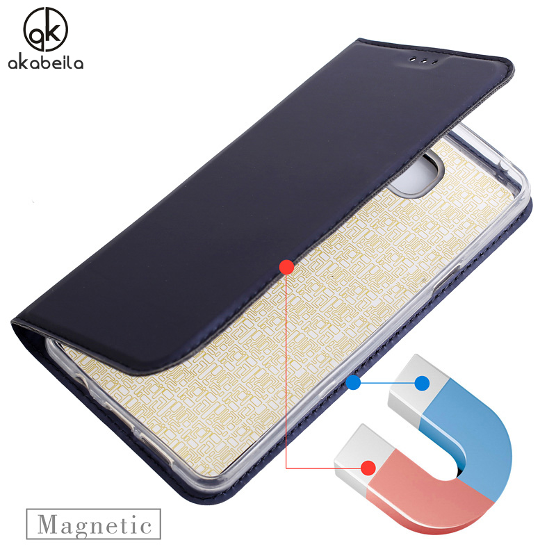 AKABEILA Phone Bags Cases For Samsung Galaxy A5 2016 Duos A510F A510FD A5100 A510Y Case TPU PU Auto Magnetic Flip Leather Covers