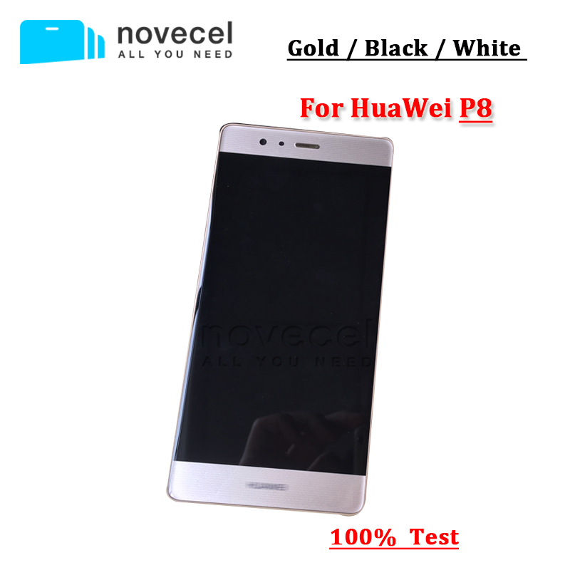 Good quality For Huawei Ascend P8 LCD Display+Touch Screen Digitizer + Glass Assembly replacement replacement original touch screen lcd display assembly framefor huawei ascend p7 freeshipping