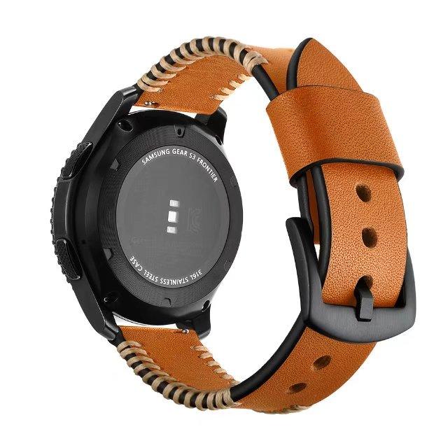 LEONIDAS Véritable En Cuir Bande Pour Samsung Vitesse S3 22mm Bande De Montre De Remplacement Bracelet Pour Les Engins S3 Classique frontière