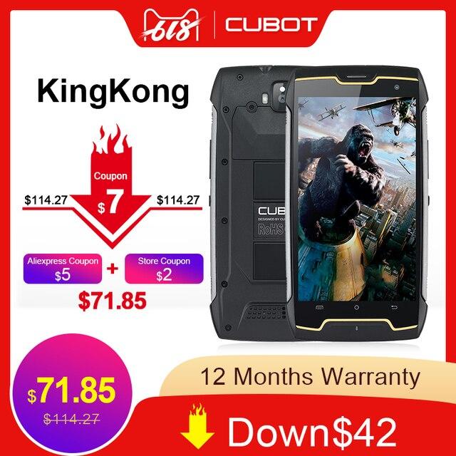 Оригинальный Cubot KingKong IP68 водонепроницаемый смартфон пылезащитный противоударный сотовый MT6580 четырехъядерный 5,0 дюймов HD 2 Гб 16 Гб 4400 мАч