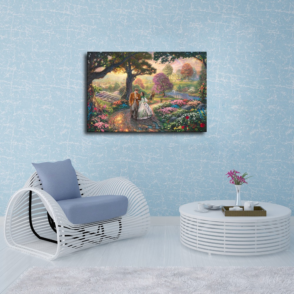 Superbe H1167 Thomas Kinkade Gone With The Wind, HD Canvas Print Home Decoration  Living Room Bedroom Wall Pictures Art Painting In Painting U0026 Calligraphy  From Home ...