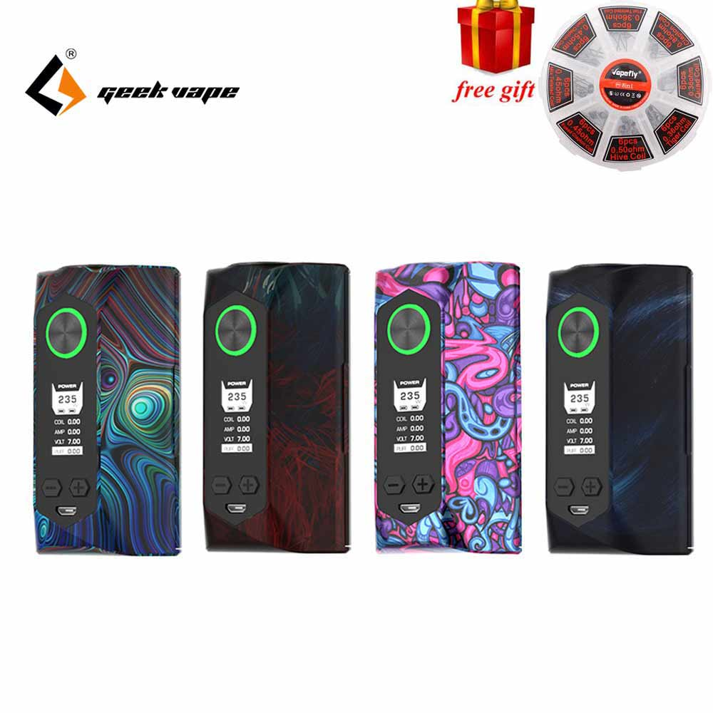 Free gift Newest Color Geekvape Blade mod 235W with aircraft grade material Blade Box MOD Support 18650 20700 21700 Battery Vape