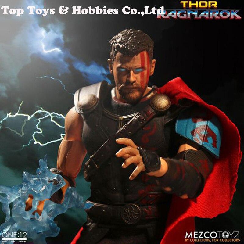 MEZCO 1/12 Thor Ragnarok Thor figurine poupée ensemble complet pour collection