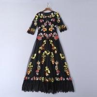 Одежда высшего качества 2019 Весна и лето новый нежный кружево вышитые Тонкий платье 190306JT01
