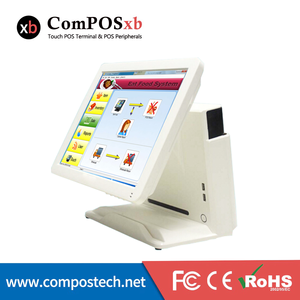 Good Quality Commercial Free Shipping Pos System Restaurant Equipment Cashier Register All In One pos PC For Retail 6PCS commercial dual screen cashier register screen touch pos system 15 inch all in one pos terminal for restaurant equipment