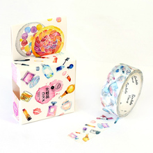 Makeup Story  Masking Tape Washi Tape Decorative Album Adhesive Tape  DIY Scrapbooking Decoration Masking Tape цена и фото