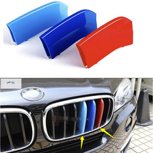 цена на For BMW X5 2014 X6 F16 2015 Car Styling Front Grille Grill cover trim Modling Garnish 3 Pcs / Set