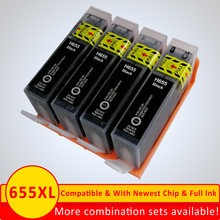 Xiangyu 4 Black ink Cartridge Compatible for HP 655 655XL Deskjet 4615 3520 3525 4620 4625 5525 6520 6525 e-All-in-One Printer