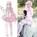 Danganronpa Monomi Pink & White Rabbit vestido de uniforme traje del Anime trajes de Cosplay