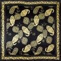 100% Шелковый Шарф Женщин Шарф Пейсли Шарф Шелковый Шарф 2017 хиджаб Платок Печати Среднего Квадратных Шелковый Шарф Горячий Подарок для Леди