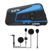 Lexin 1PC Helmet intercom Waterproof Wireless Helmet bluetooth Headset Motorcycle For 4 Riders Talking FM Radio intercomunicador