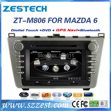 ZESTECH High performance dual-core touch screen Car Dvd player for MAZDA 6 2008-2012 Car Dvd player with radio,RDS,3G