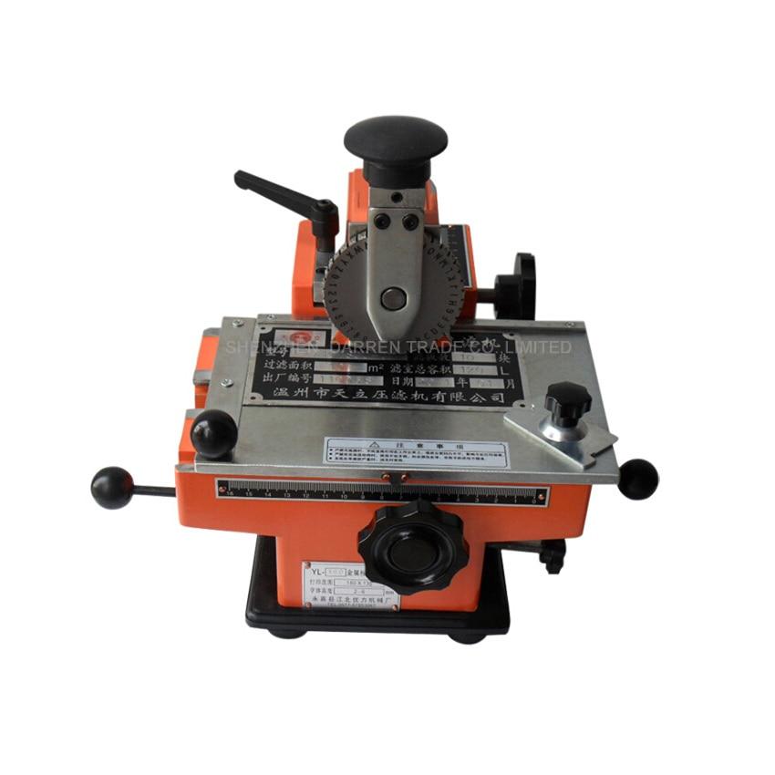 Semi-automatic Metal Label Printer Aluminum Labeling Coding Machine Manual Marking Machine Press Machine YL-360 manual metal bending machine press brake for making metal model diy s n 20012