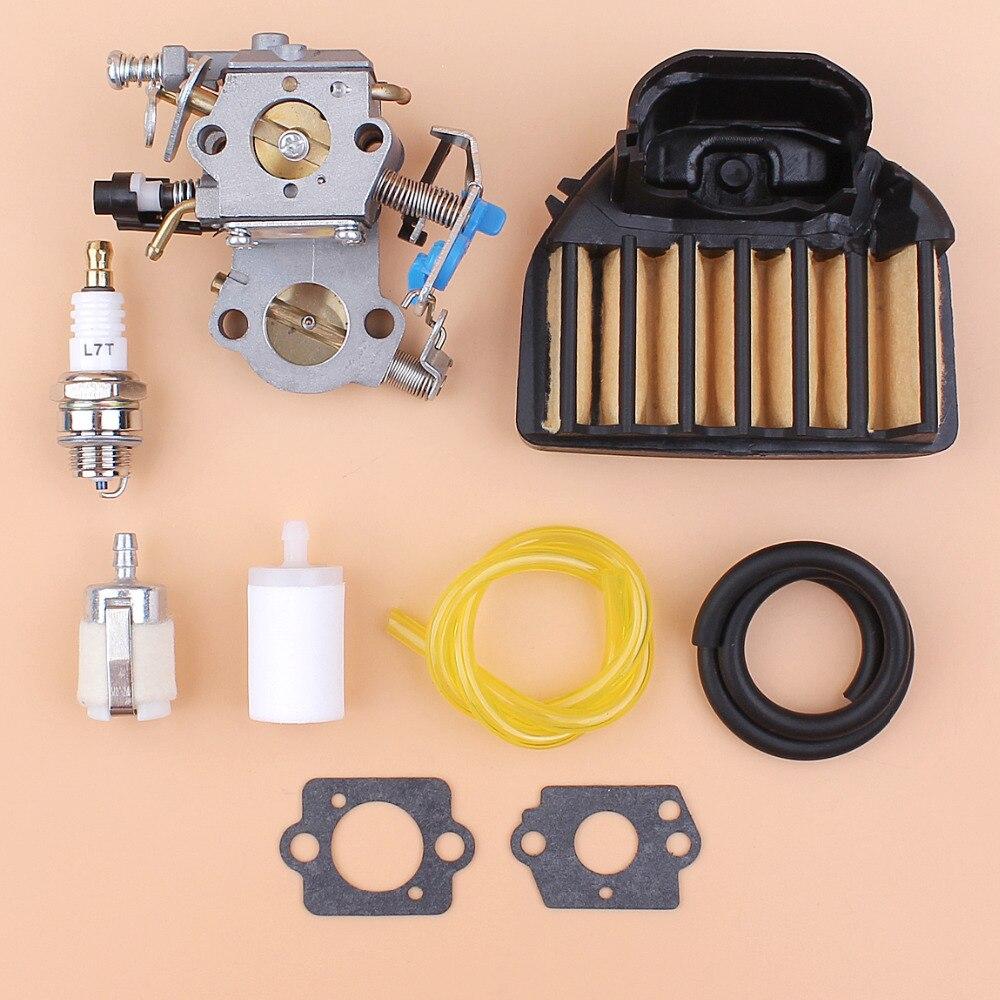 Carburetor Air Filter Fuel Filter Gasket Kit Fit HUSQVARNA 455 Rancher 460 461 Chainsaw For Zama C1M-EL35 Walbro WTA-29 WTEA-1-1