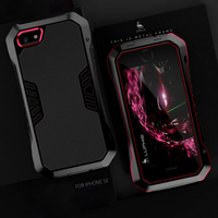 For Apple Iphone 5S Case Silicone Luxury Shockproof Aluminum Strong Armor Brand Phone Cover For Iphone