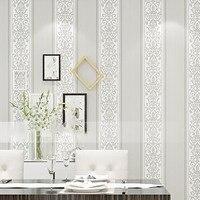 Нетканые обои Современные Простые чистые пигментированные вертикальные полосы спальня гостиная обои для украшения отеля