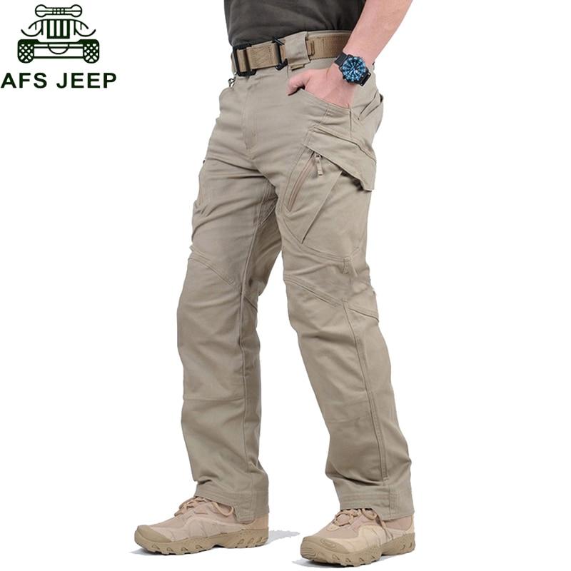 Pantalon Cargo Para Hombre Negro Multiples Bolsillos Control Ar Com Ar