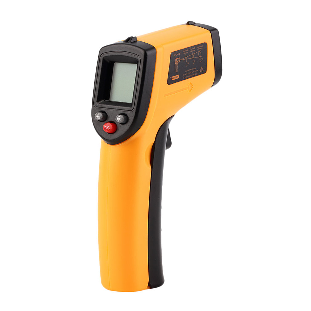 Digital Thermometer 12:1 Non-contact thermal imager -50~380 C Infrared IR termometro Temperature Tester Pyrometer LCD Backlight digital dual laser infrared thermometer non contact ir high temperature gun tester pyrometer with backlight lcd display 50 850c