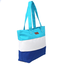 SPECIAL OFFER! Tricolour Striped Design Beach Tote Bag