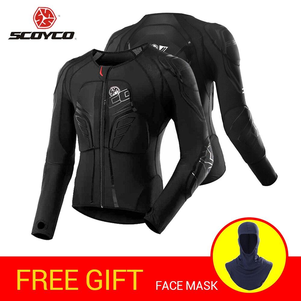 SCOYCO Motorcycle Jacket Motocross Protection Protective Gear Moto Jacket Motorcycle Armor Racing Body Armor Black Moto Armor