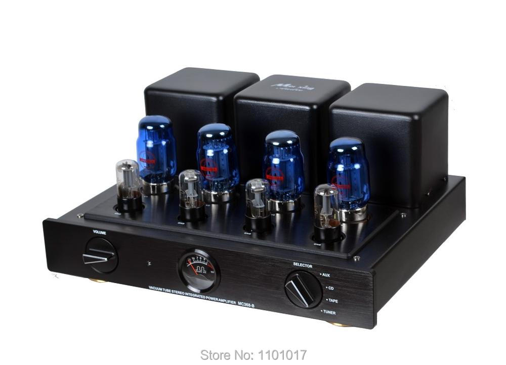 Meixing MINGDA MC368-B KT88 Push-Pull tube amplifier HIFI EXQUIS 50wx2 integrated lamp 6n8p (6SN7) AMP with remote meixing mingda mc845 c st monoblock pure power tube amplifier hifi exquis 300b push 845 class a lamp amp standard version