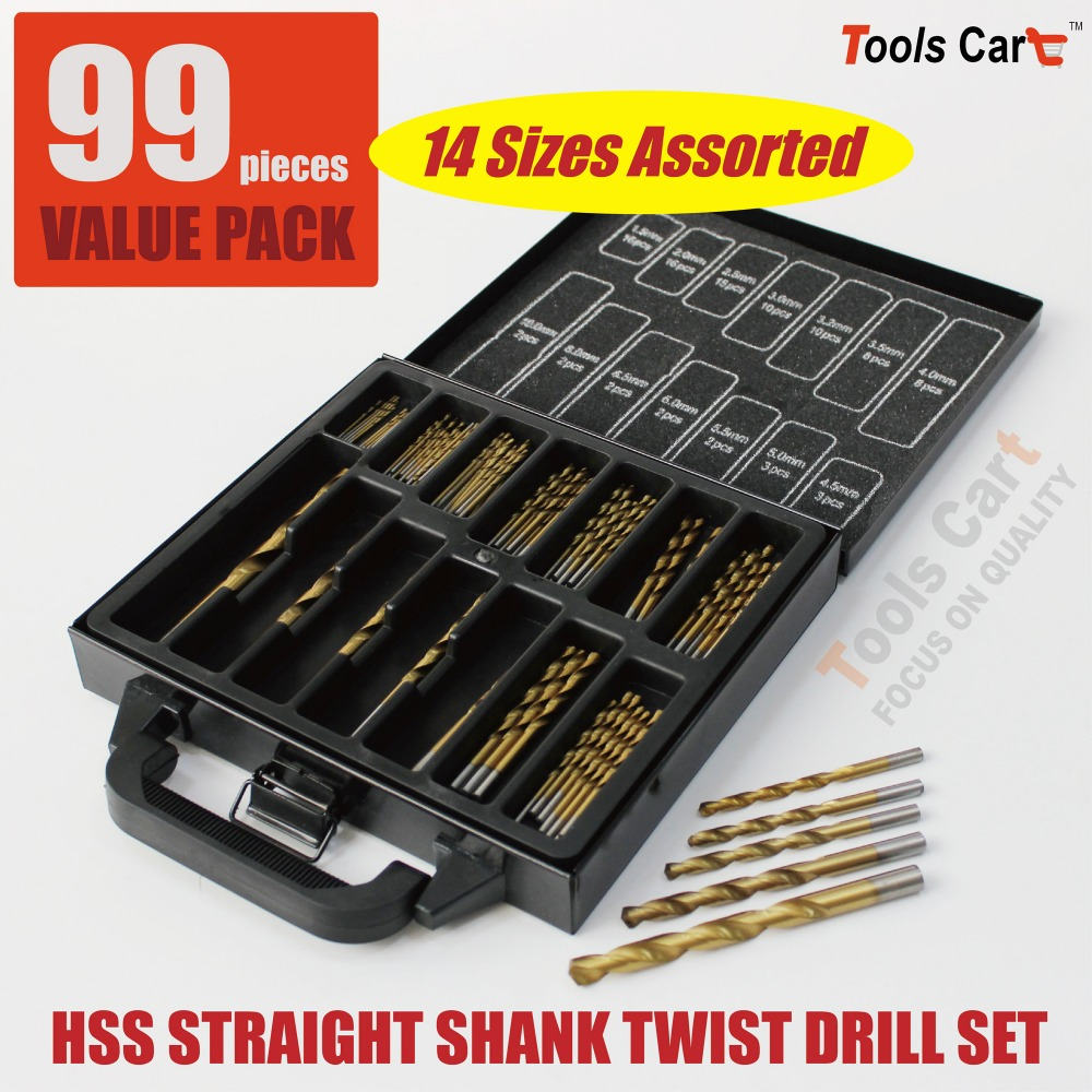 14 Sizes Assorted Drill Bit 1.5-10mm HSS Straight Shank Electrical Tool Twist Drilling DS-99