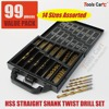 14 Sizes Assorted Drill Bit 1 5 10mm HSS Straight Shank Electrical Tool Twist Drilling DS