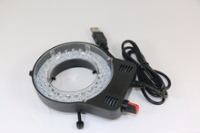 Adjustable USB 52 LED Ring Light illuminator Lamp for CCD Industry Stereo Microscope Digital Camera Magnifier 110V-240V