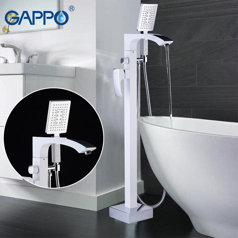 GAPPO free standing torneira da banheira torneiras misturadoras torneira da banheira misturador do chuveiro banho de cachoeira torneira da banheira banheiro chuveiro rainfall