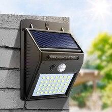 Energia solar led night light pir sensor de movimento luz do lado de fora da lâmpada parede jardim lâmpada noite à prova dwaterproof água quintal caminho iluminação