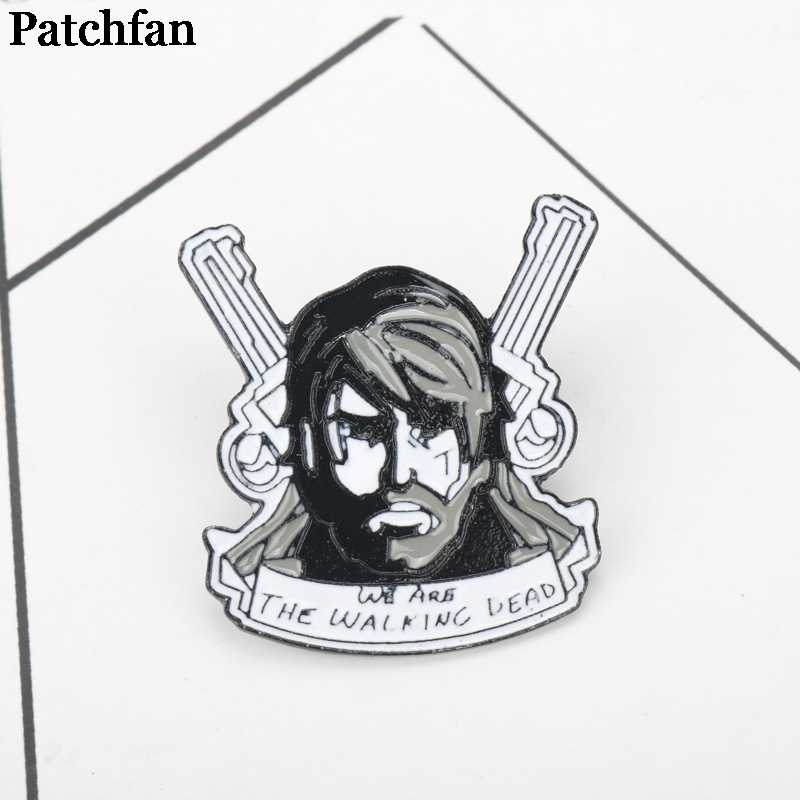 The Walking Dead Brooches for men women Pride Zinc Enamel Pins medal For shirt backpack clothes bag decoration Badges A2120
