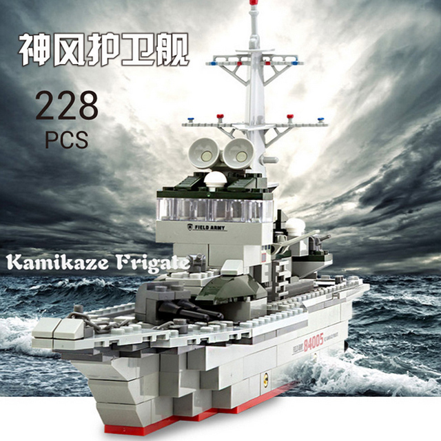 Toy boat Building Blocks Gift for Kids The Frigate Swat the War Ship brick christmas gift