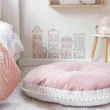 5 цветов хлопок Печенье playmate детская круглая подушка диван подушка ковер коврик для ползания игровой коврик/Детская напольная подушка