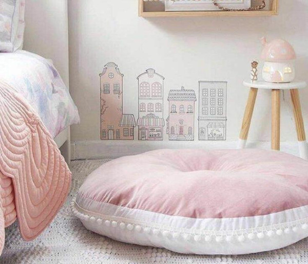 5 Colors Cotton Cookie Playmate Children Round Cushion Sofa Cushion Carpet Crawl Pad Play Mat/Infant Floor Cushion
