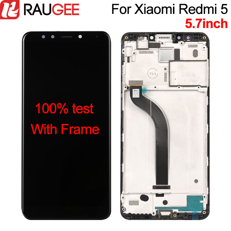 For Xiaomi Redmi 5 LCD Display+Touch Screen with Frame 100% New Digitizer Glass Panel Assembly LCD For Xiaomi Redmi 5 5.7inch