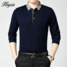 Free Shipping High Quality Business Dress Autumn Wool Sweater Shirt Men Turn-down Collar Cashmere Pullovers Plus Size Pull 66121