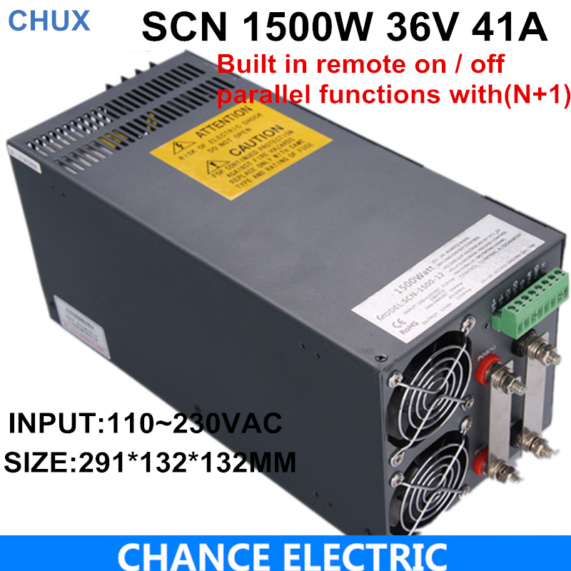 Ce Cetified 36v 41A Switching Power Supply 1500w for cnc cctv led light SCN-1500-36 4pcs 12v 1a cctv system power dc switch power supply adapter for cctv system