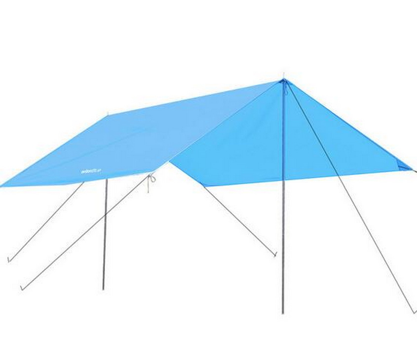 300CM * 295CM waterproof sunscreen UV outdoor camping tent, oversized oxford cloth canopy, awning, including rope, rod, nail. esspero canopy