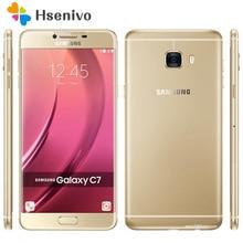 "100% D'origine Samsung Galaxy C7 C7000 4G LTE Mobile Téléphone Octa base 5.7 ""16.0MP 4 GB RAM 32 GB/64 GB ROM Dual SIM NFC Android téléphone"