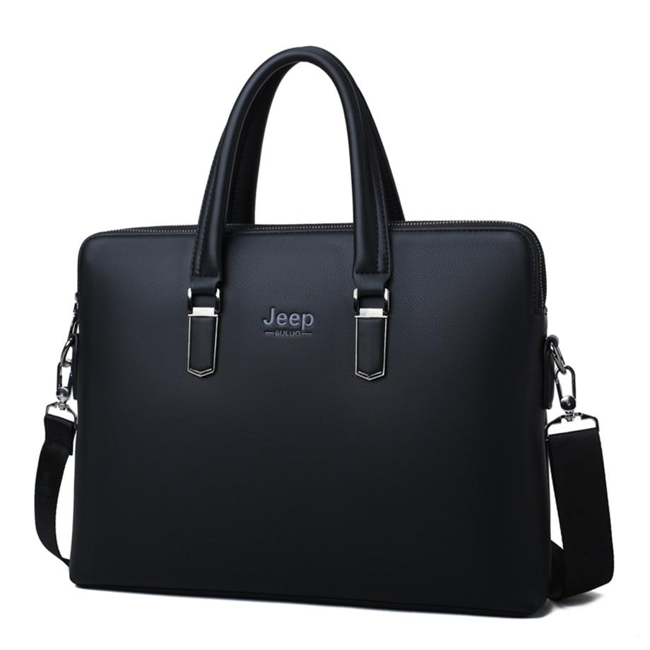 HTB1VmZVeBKw3KVjSZTEq6AuRpXag JEEP BULUO Men Leather Briefcase Bag Business Famous Brand Shoulder Messenger Bags Office Handbag 14 inch Laptop High Quality