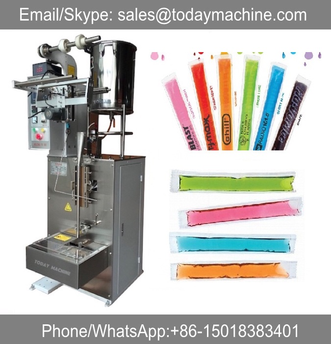Liquid Ice Lolly Sealing Packaging Machinery Fruit Juice Jelly Stick Bar Sachet Filling Packing