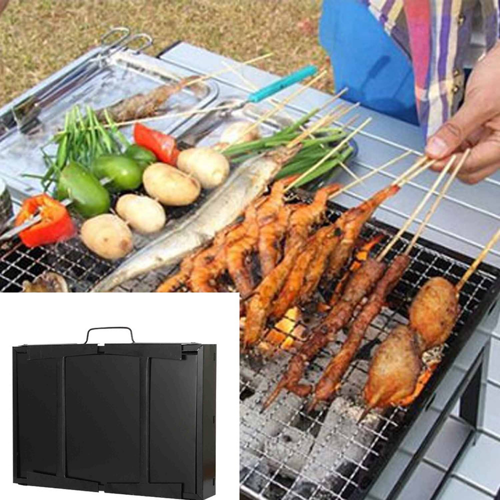 Behokic Handheld Folding Cold Rolled Steel Barbecue Portable Bbq Charcoal Grill Pit For Outdoor Accessories On Aliexpress Alibaba Group