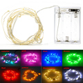 5pcs/lot 5M Waterproof Mini LED Copper Wire String Lights For Indoor Outdoor Christmas Wedding Party, many color for choices