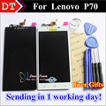 "High Quality New Touch Screen Digitizer + LCD Display Replacement For Lenovo P70 P70-T P70T Cellphone 5.0"" 1280*720 Black White"